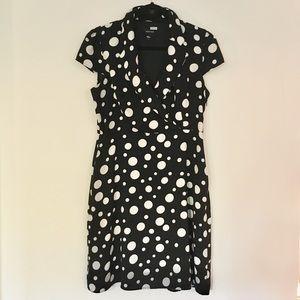 ⚫️Black & White Polka Dot Dress with Pockets